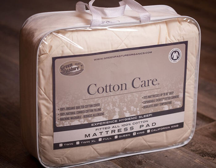 Green Pasture Organics Cotton Care Organic Mattress Pad