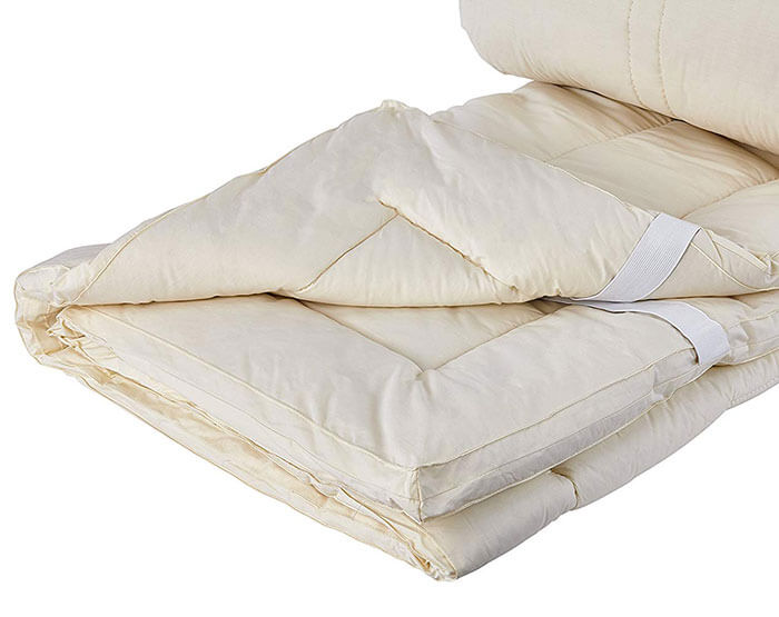 Sleep & Beyond Washable Wool Mattress Pad