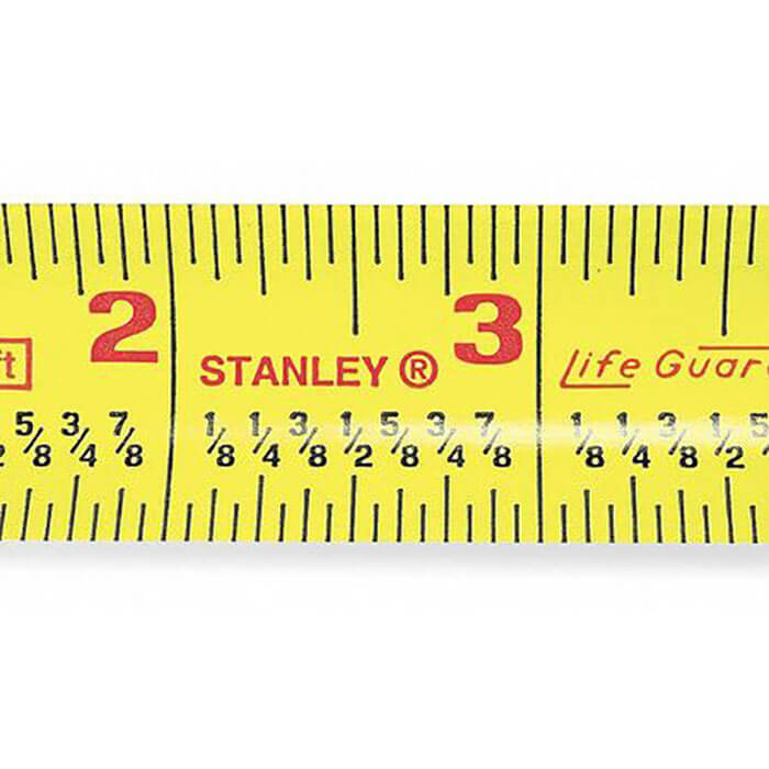 ZORO 25 ft. Fractional Read Tape Measure