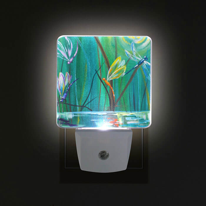 ALIREA Dancing with Dragonflies Plug-In LED Night Light