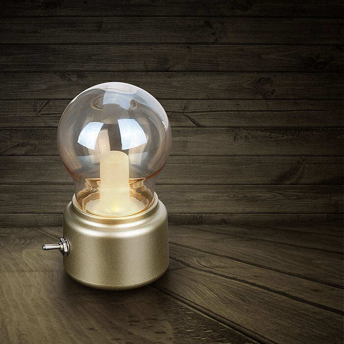 Veesee LED Vintage Light Bulb Rechargeable Night Light