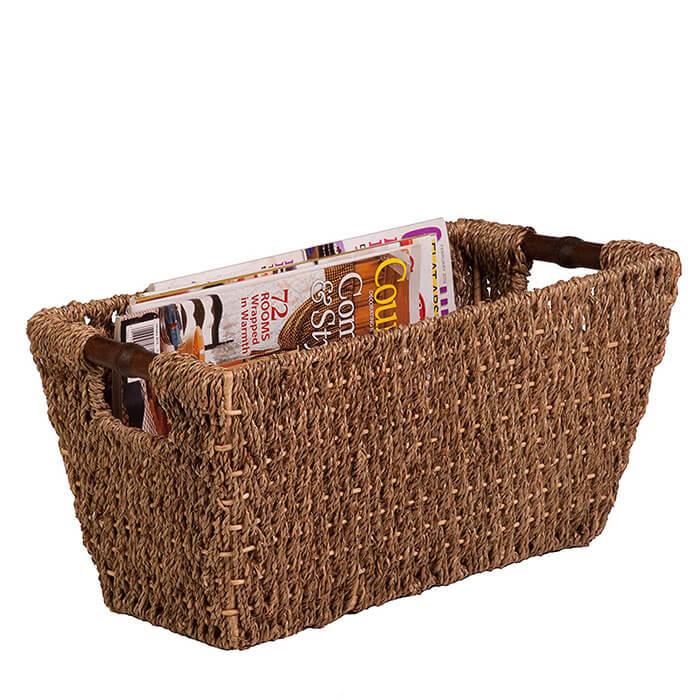Honey-Can-Do Sea Grass Basket Tote / Magazine Holder
