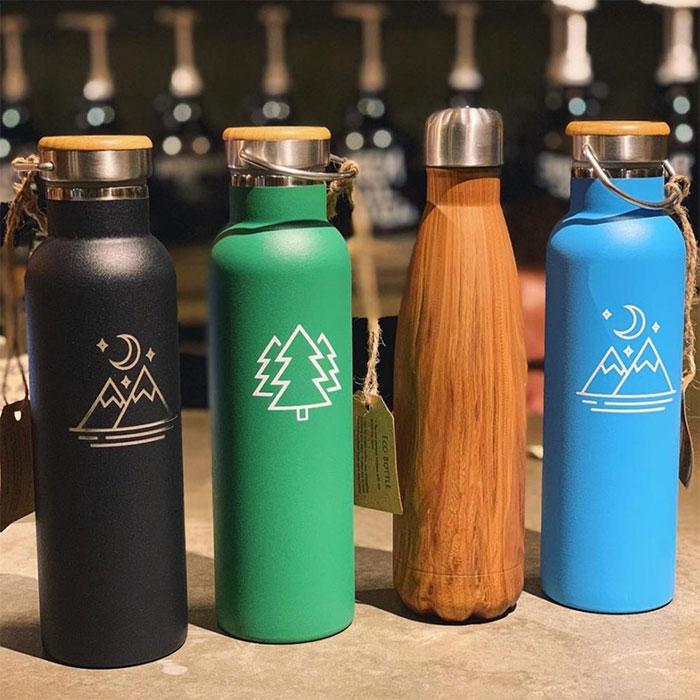 Tree Tribe Green Trees Stainless Steel Bottle 20 oz.