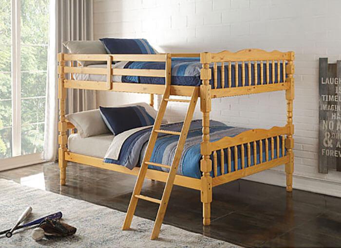 Dot & Bo Homestead Full over Full Natural Bunk Bed