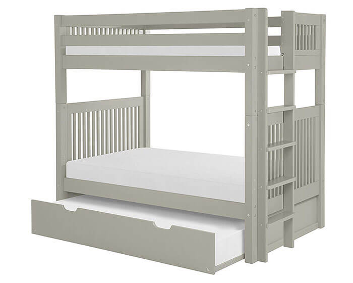 Camaflexi Trundle Mission Bunk Bed With Headboard Bed End Ladder