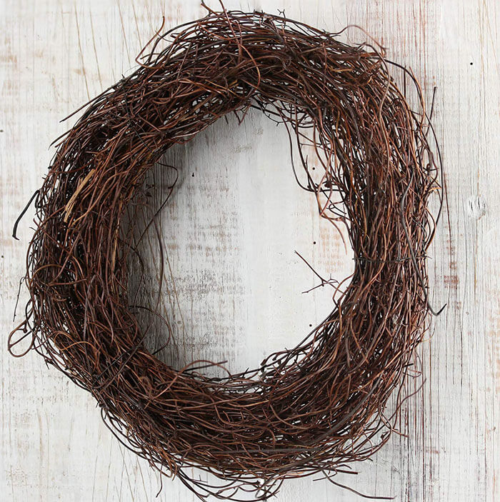 Factory Direct Craft Natural Angel Hair Vine Wreath