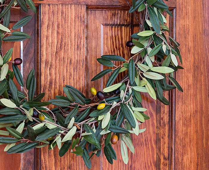 Nearly Natural Olive Wreath