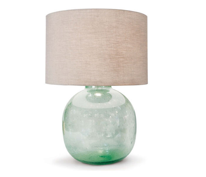 Belle & June Seeded Recycled Glass Table Lamp