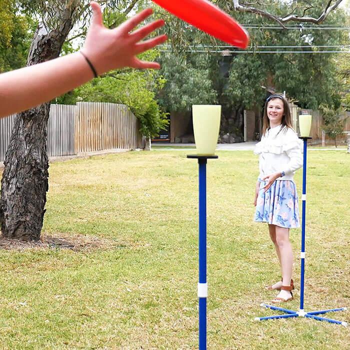 GIGGLE N GO Frisbee Toss Yard Game