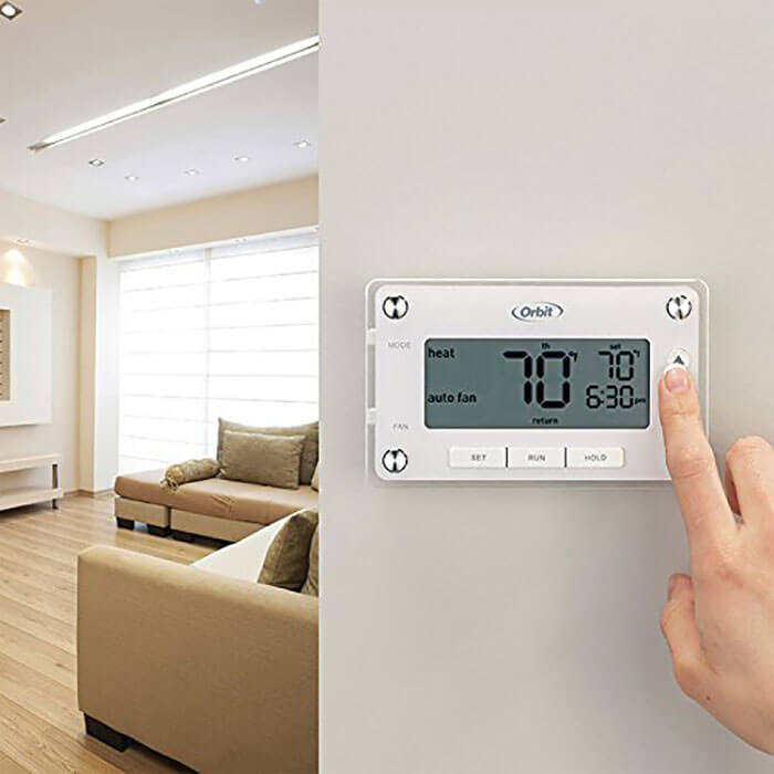 Orbit Clear Comfort Programmable Thermostat