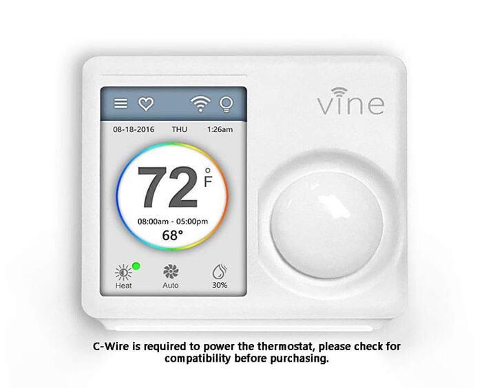 Vine Wi-Fi Programmable Smart Thermostat