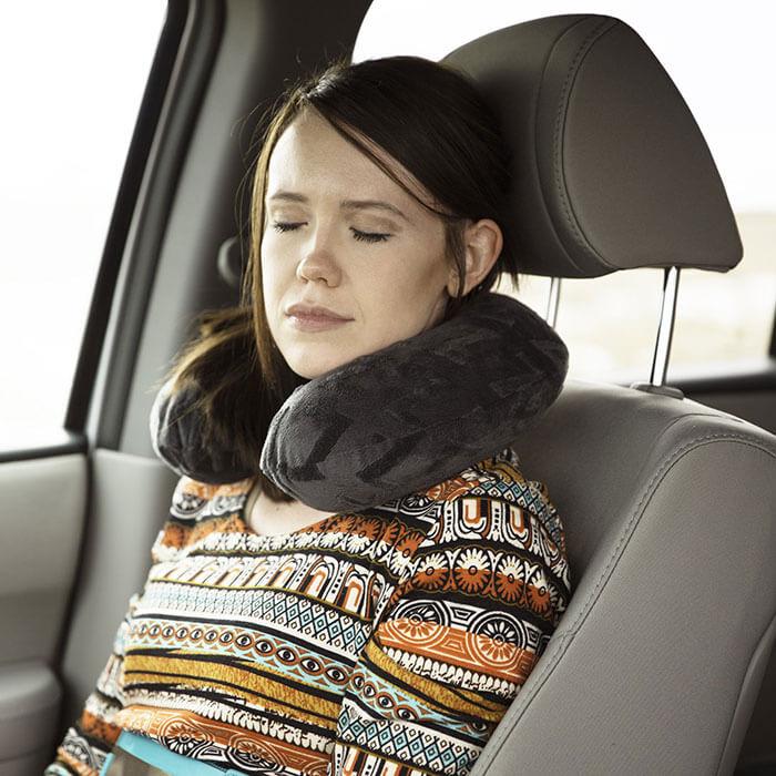 MALOUF Z Shredded Gel-Infused Memory Foam Travel Neck Pillow