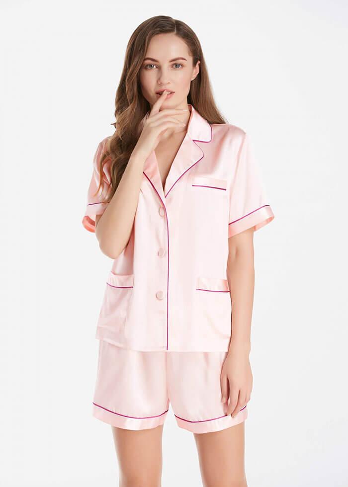 Lily Silk 22 Momme Summer Women Silk Pajamas Set