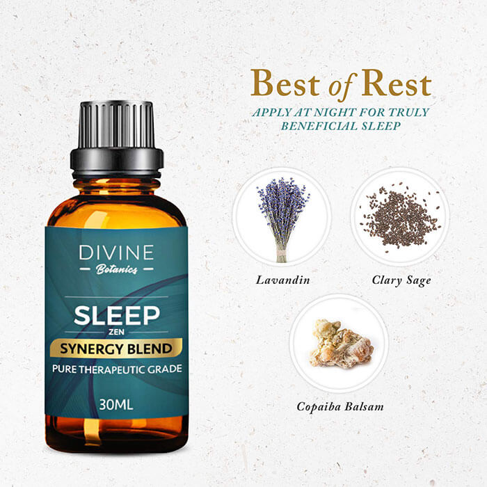 Divine Botanics Essential Oils Aromatherapy Good Night Sleep Synergy Blend