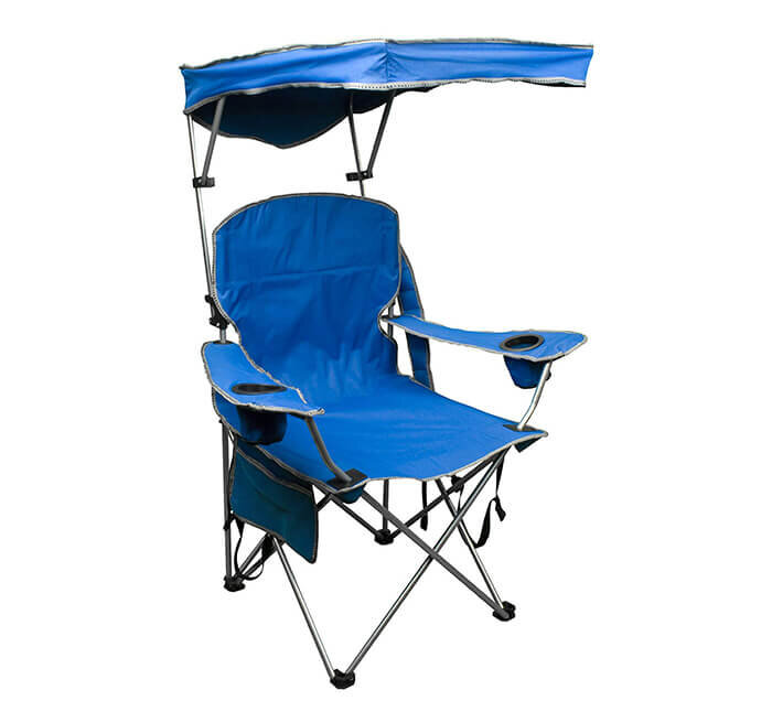 Iycorish Outdoor Chair Portable Camping Quad Chair Blue