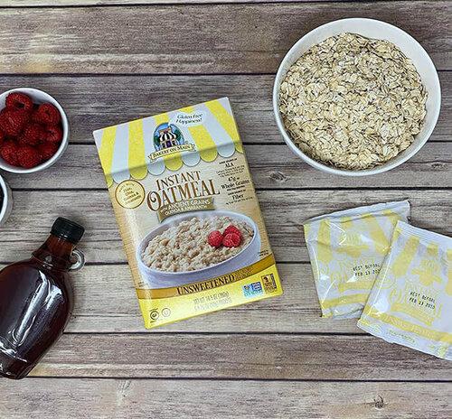 Gluten-Free Non-GMO Instant Oatmeal Breakfast