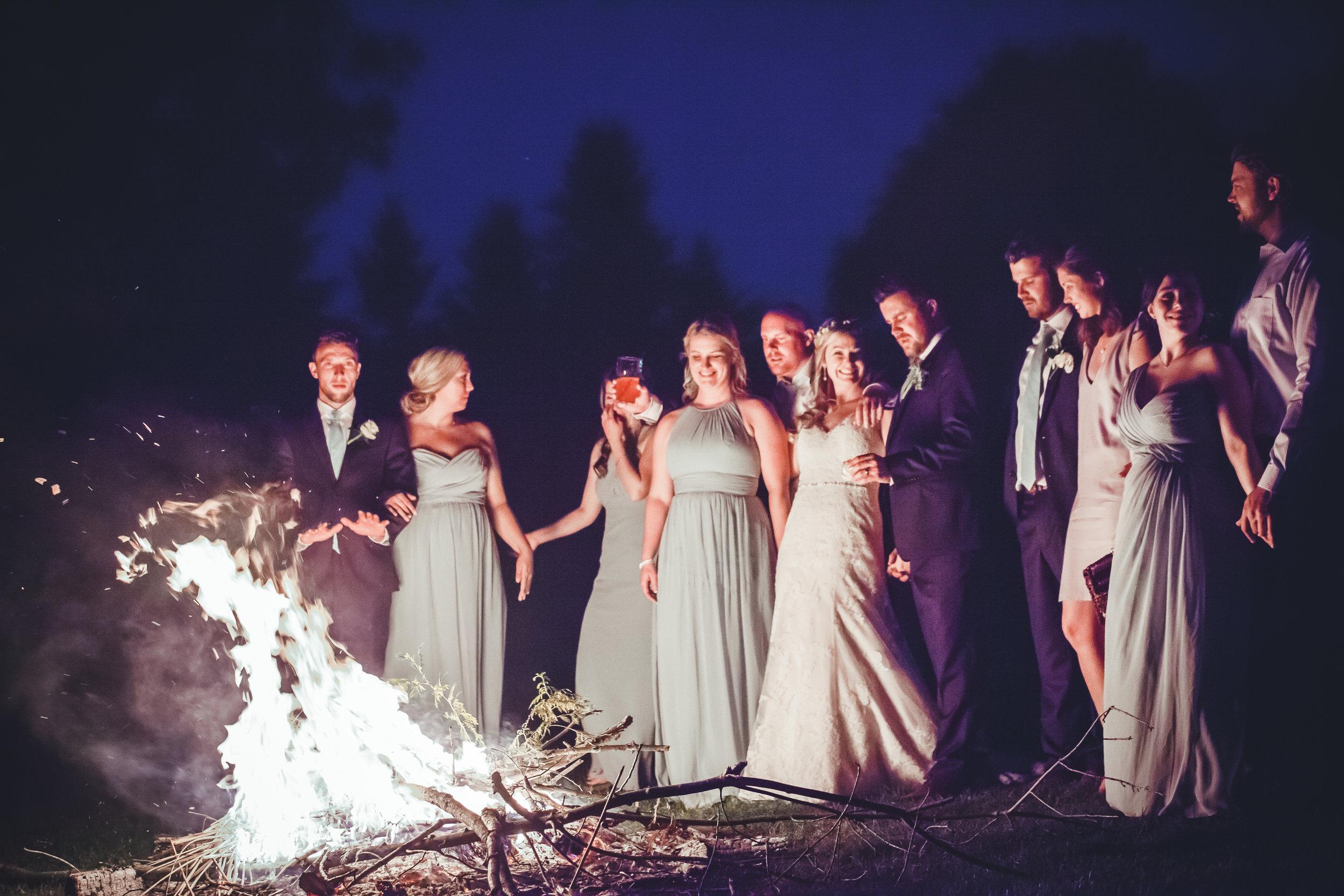 Wedding Bonfire, Muskoka Wedding Photography, Barrie Wedding Photography, Barrie Country Club