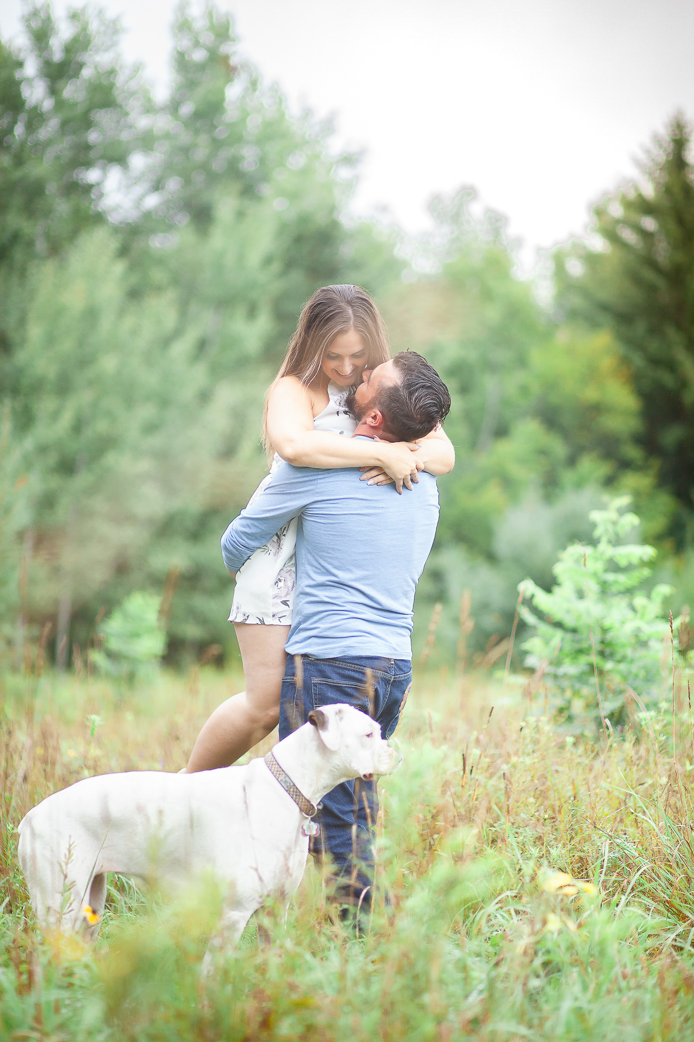 Engagement Sessions- Barrie Wedding Photography  Engagement Photo Session Pose Ideas  Barrie Wedding Photography  Muskoka Wedding Photography  Best Wedding Photographers  Wedding Bells  Outdoor Engagement Session  Engagement Ideas and Poses  Dog Engagement Photos