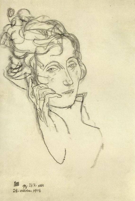 Egon Schiele,   Edith,      October, 28th 1918.