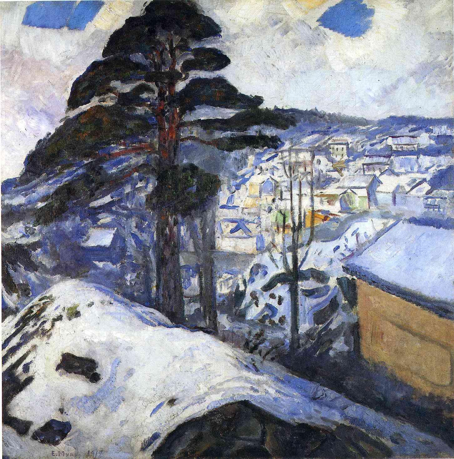 WINTER IN KRAGERO  Oil on Canvas, 1912 Snow Prediction Score:0.8996801