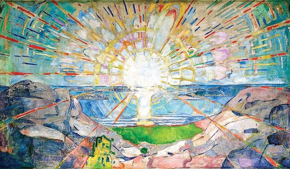 THE SUN  Oil on Canvas 1911
