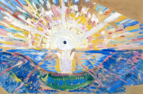 The Sun  Unprimed Canvas, 1910