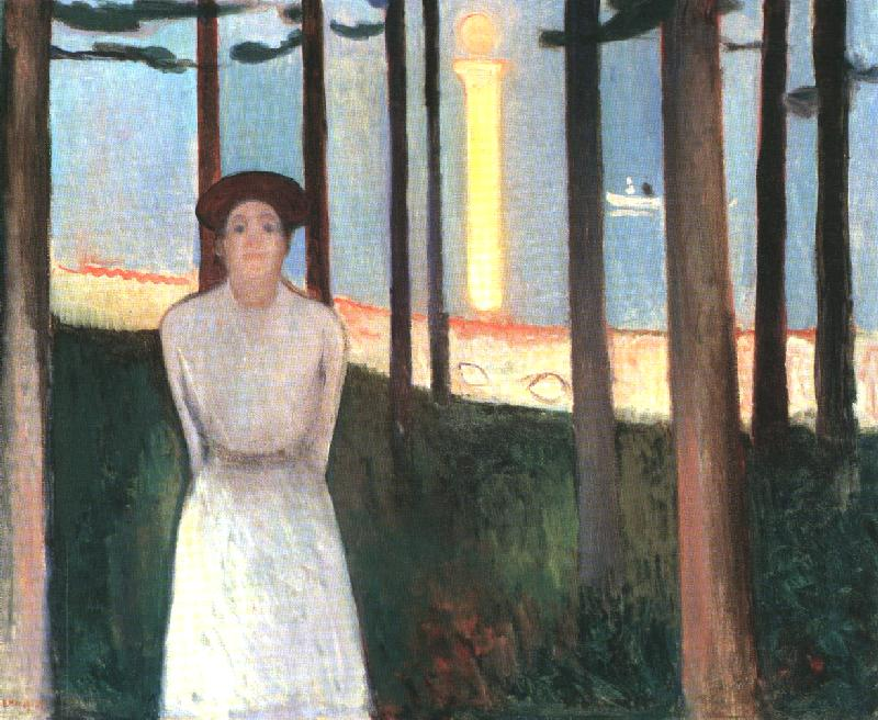 SUMMER NIGHT'S DREAM. (THE VOICE)  Oil on Canvas, 1893 Nothing in the title of this painting suggest the main subject is a woman.