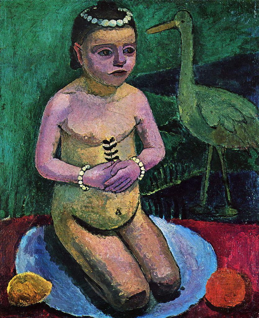 Paula Modersohn-Becker Girl with Stork, 1906