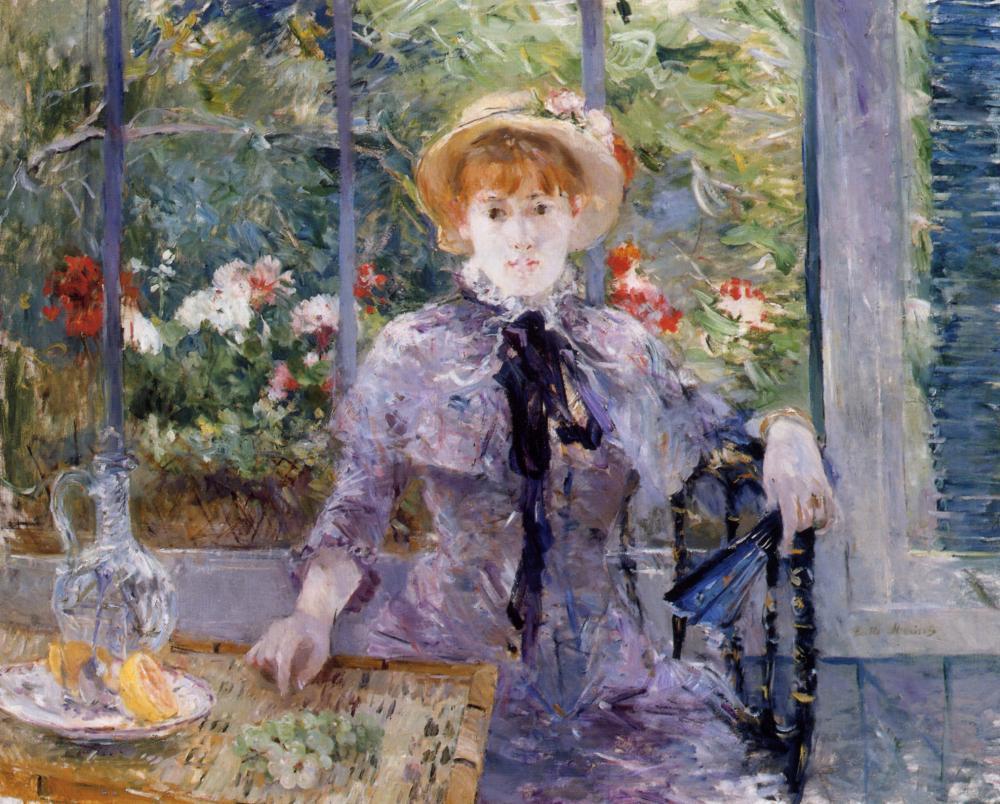 Berthe Morisot   Après le déjeuner  , 1881 Sold at auction for $10.9M in 2013