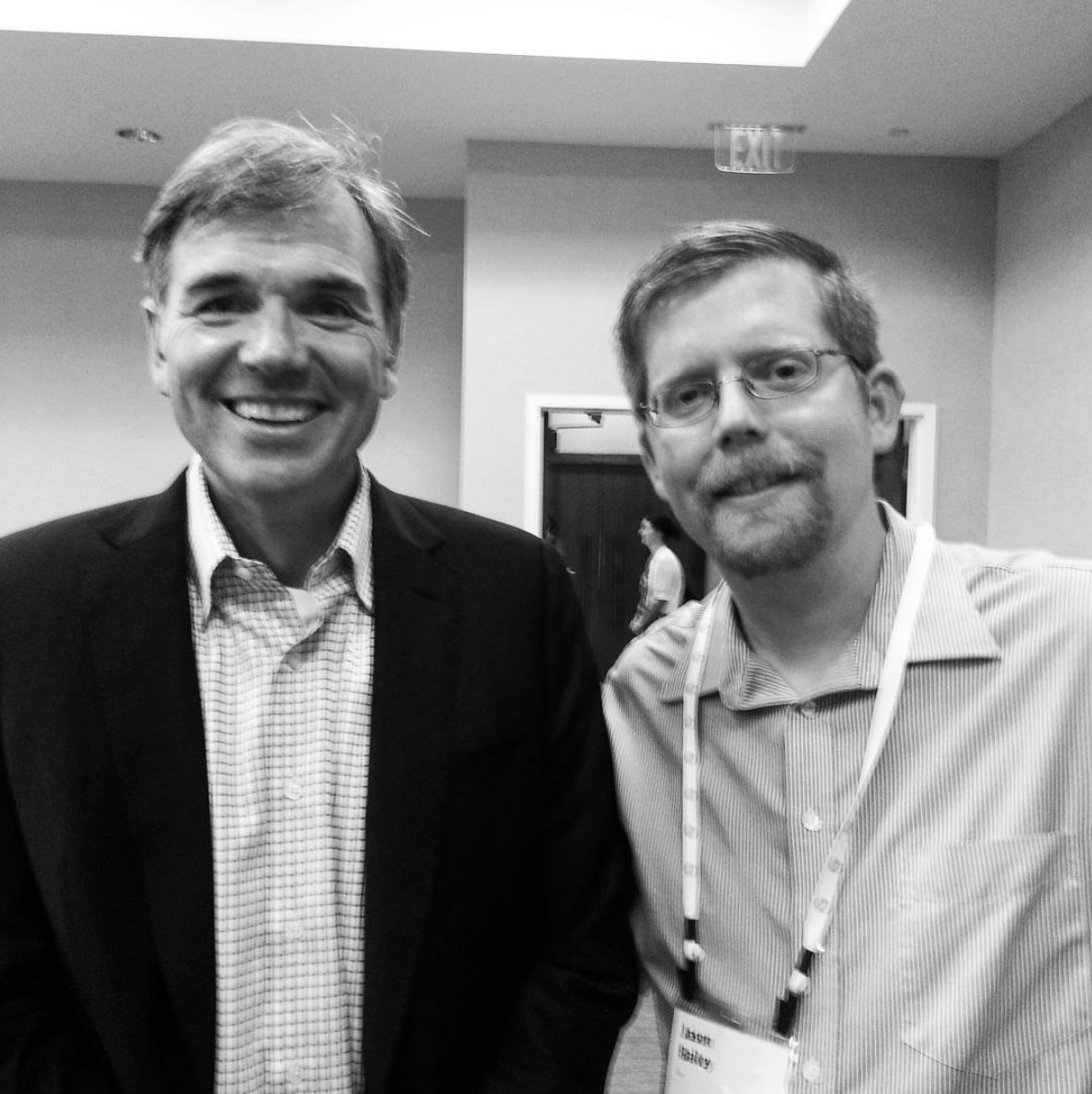 Me being star struck at the chance of meeting Billy Beane.