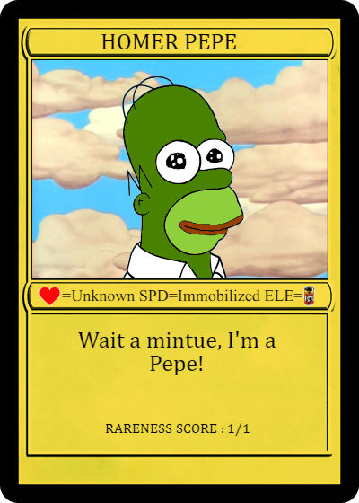 At the Rare Digital Art festival in NYC last weekend, Homer Pepe, a one-of-one Rare Pepe CryptoArtwork broke a record in a live auction selling for $39k USD (350k in Pepe Cash). In less than an hour the auction cleared ~$100k in CryptoArt.