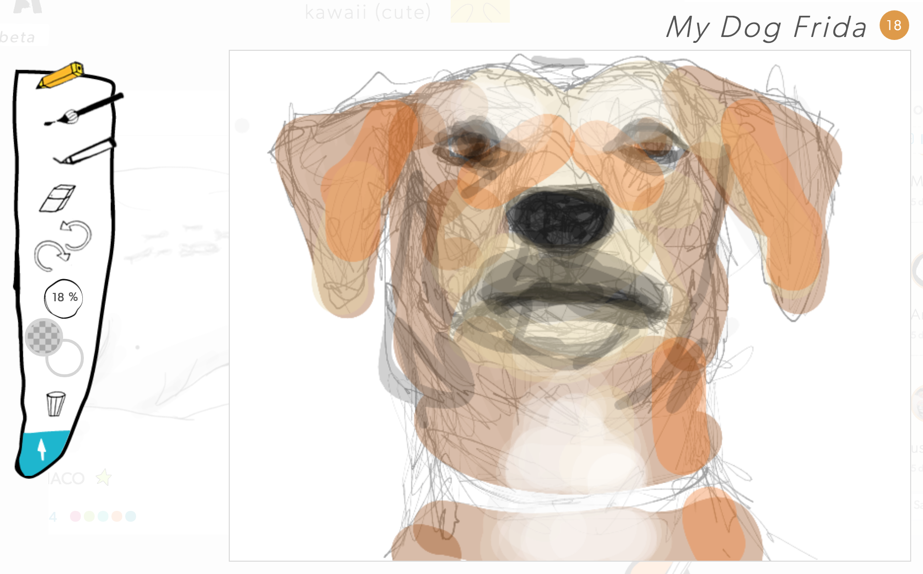 My less-than-awesome drawing of my puppy Frida