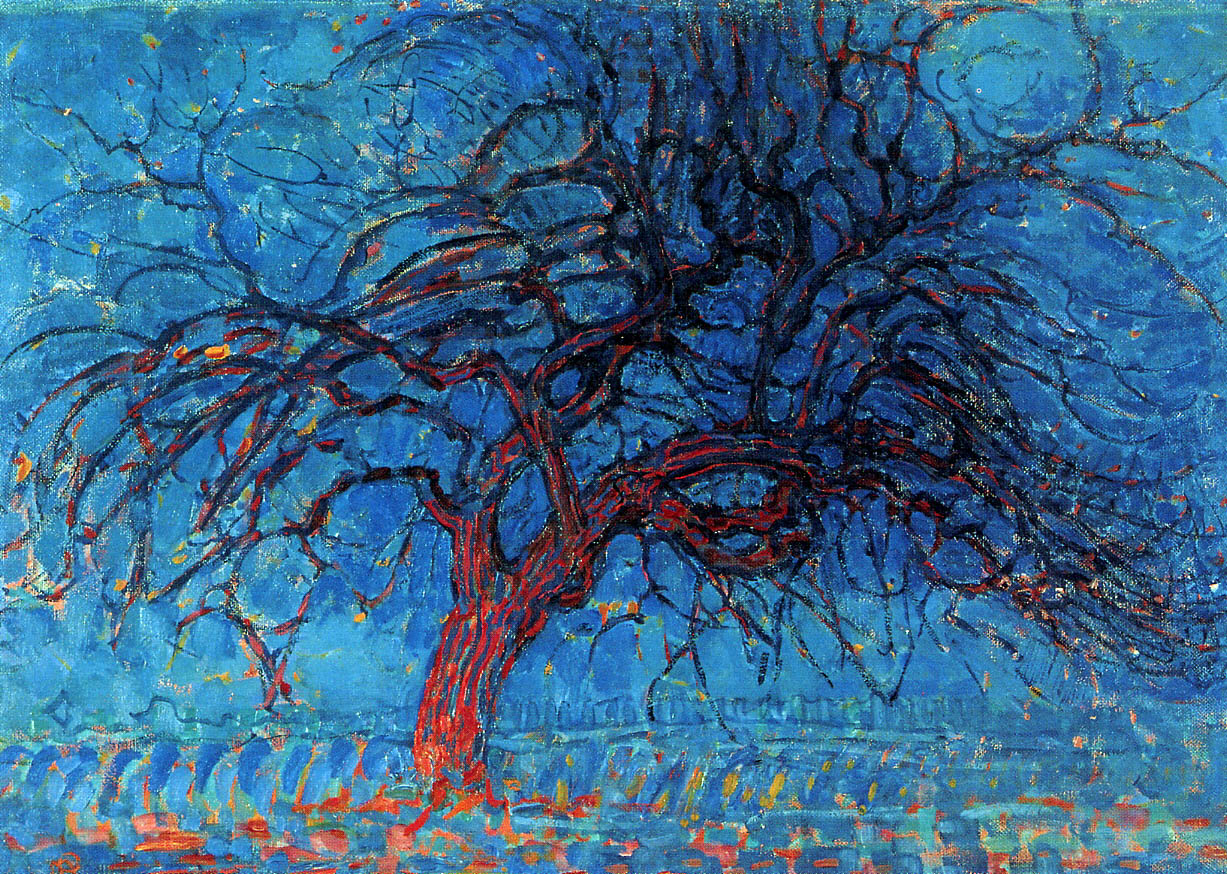 Piet Mondrian  Evening; Red Tree , 1908-1910 Oil on Canvas 70 cm × 99 cm Abstraction Score: 0.4704731246