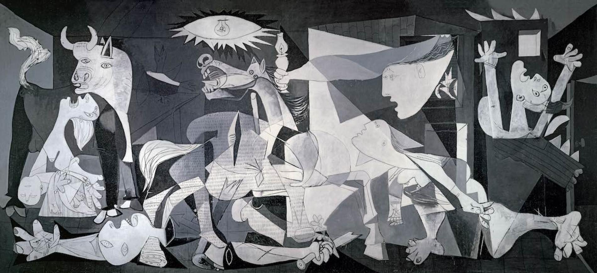 Pablo Picasso Guernica April 26, 1937–June 1937, mural-sized oil painting on canvas