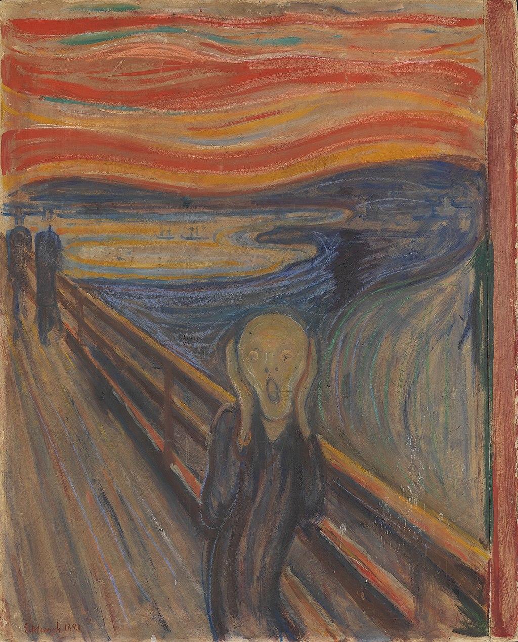 Edvard Munch The Scream 1893, oil, tempera, pastel and crayon cardboard