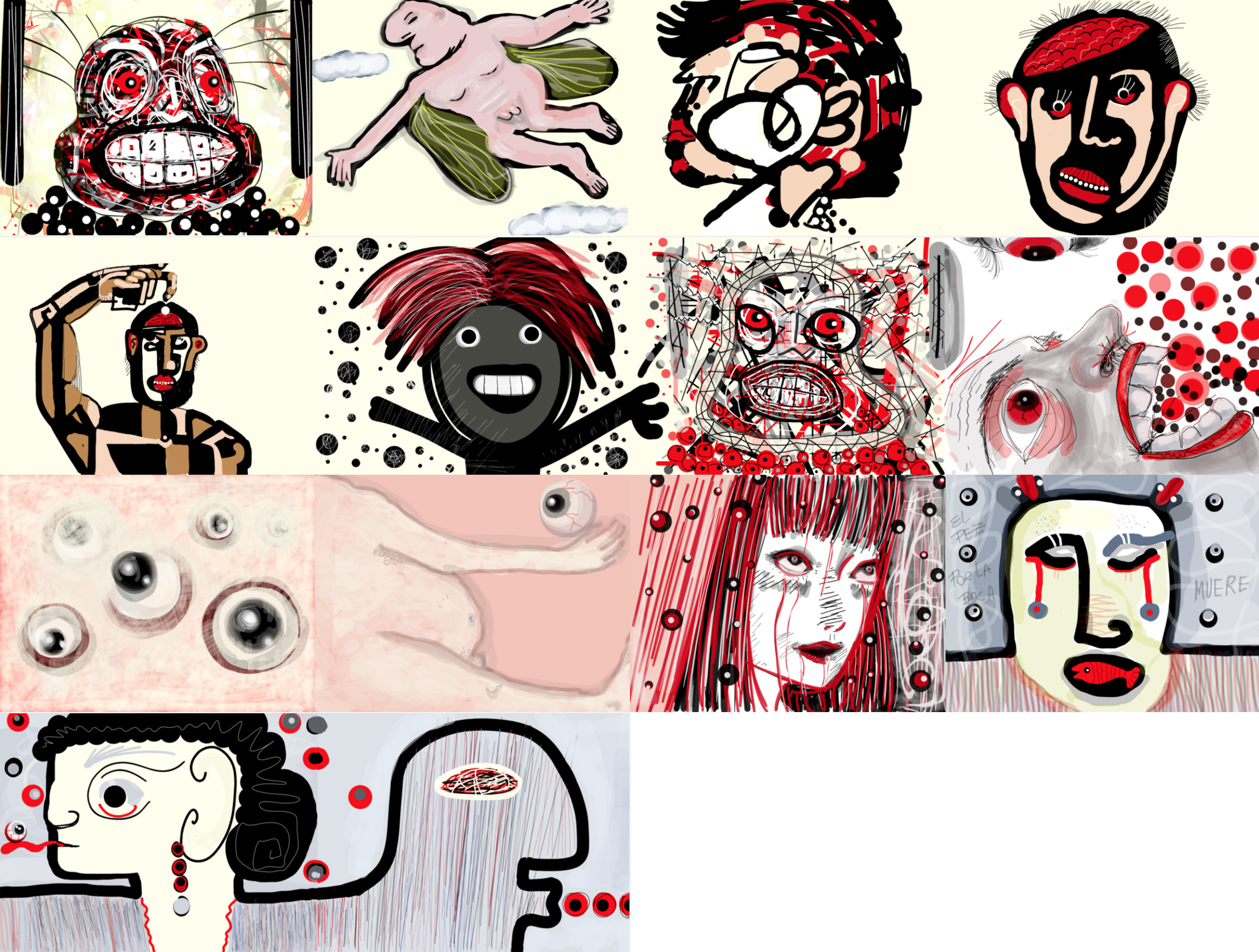 Drawing created by artists from around the world on the Dada platform.