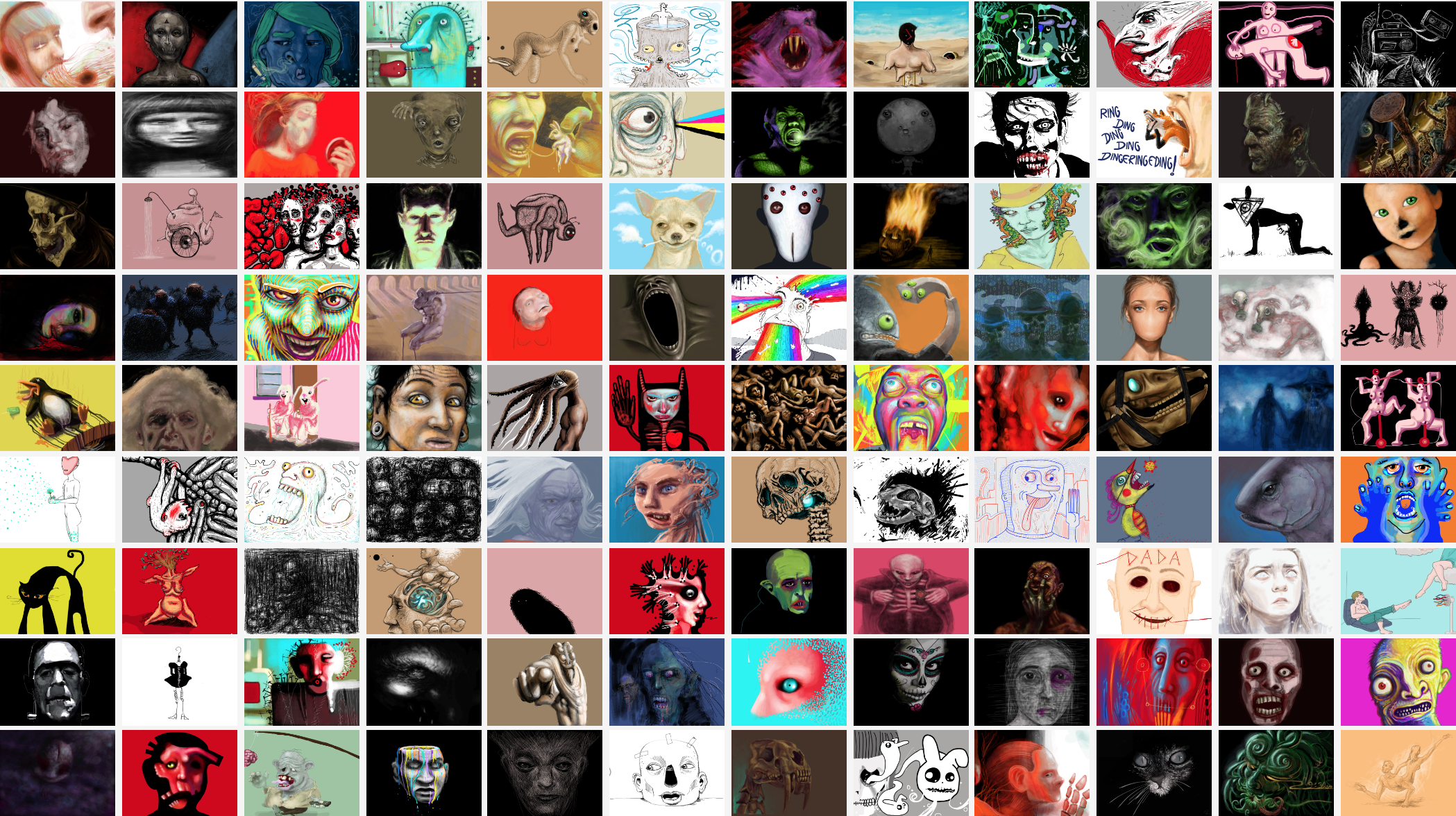 Current list of drawings available for sale on Dada for as little as $9