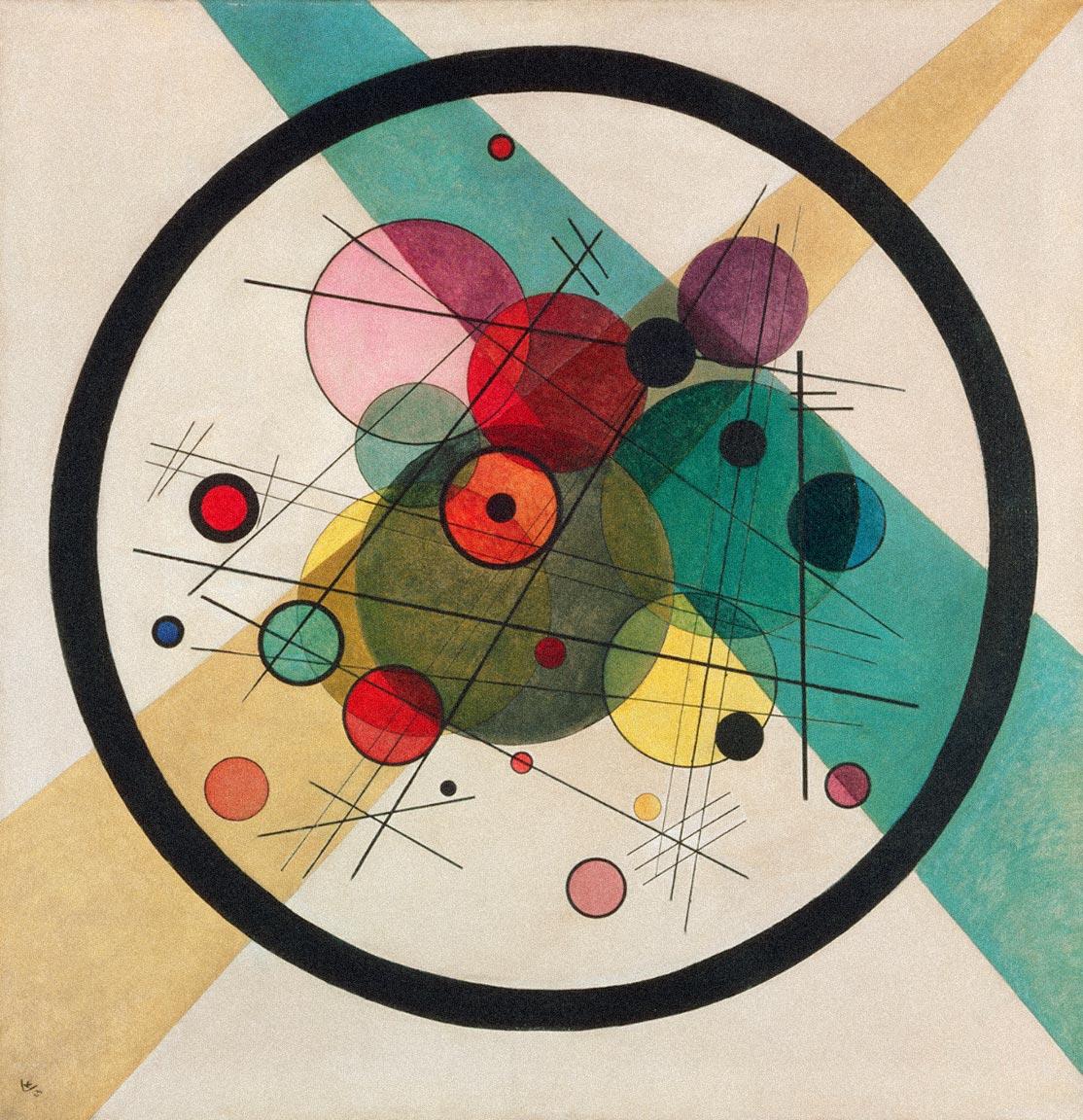 Circles in a Circle  - Wassily Kandinsky, 1923