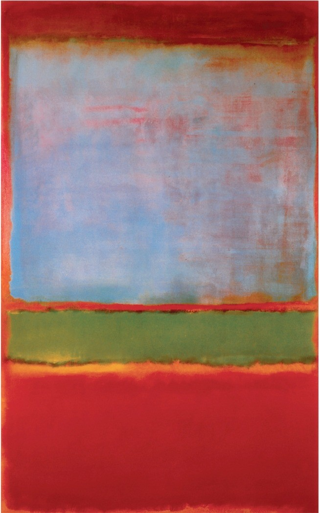 Mark Rothko,  No. 6 (Violet, Green and Red),  1951, oil on Canvas, 230 x 137 cm