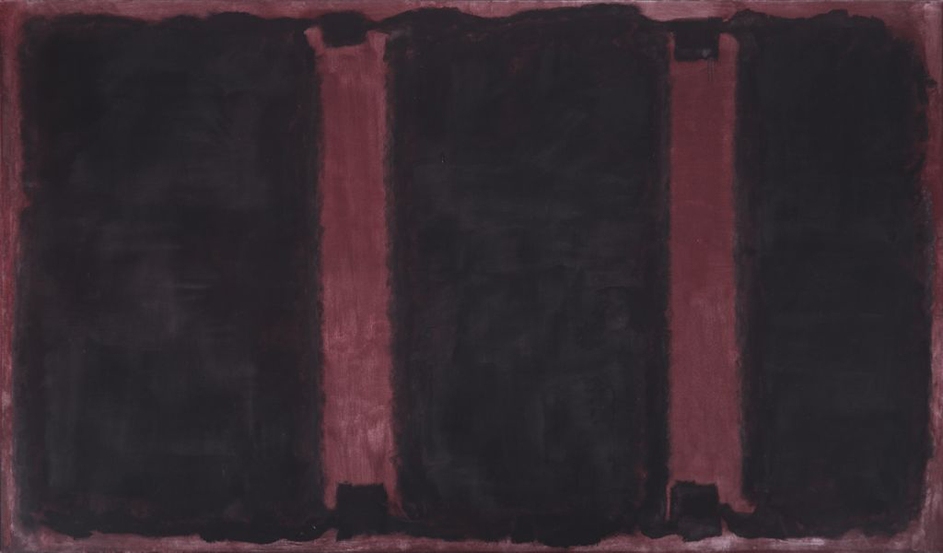 Mark Rothko,  Panel Two from the Harvard Murals , 1962 tempera on canvas, 267.3 x 458.8 cm
