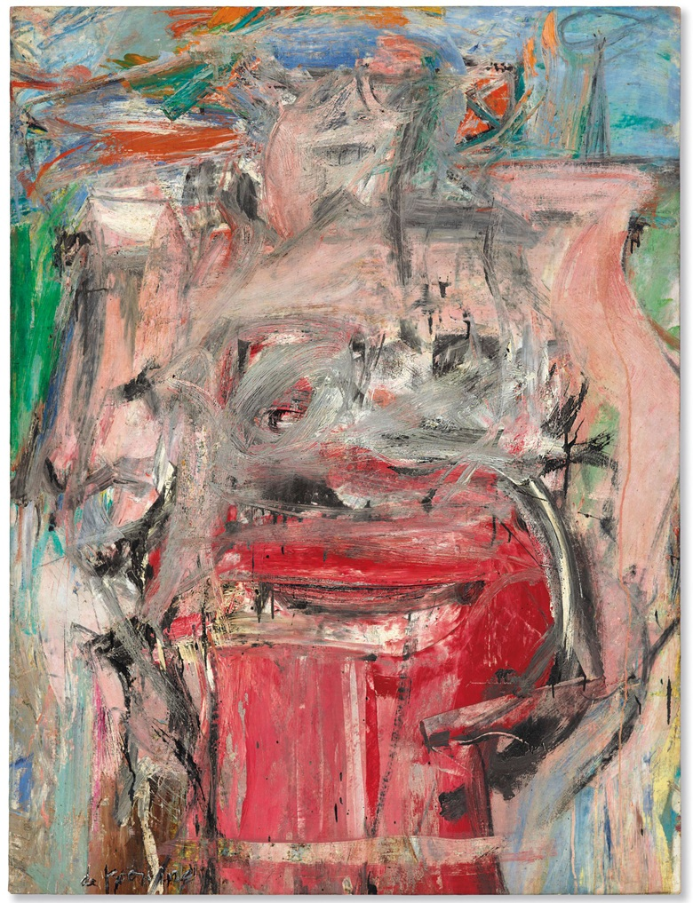 Woman as Landscape ,  Willem de Kooning,  oil and charcoal on canvas, 1954-1955