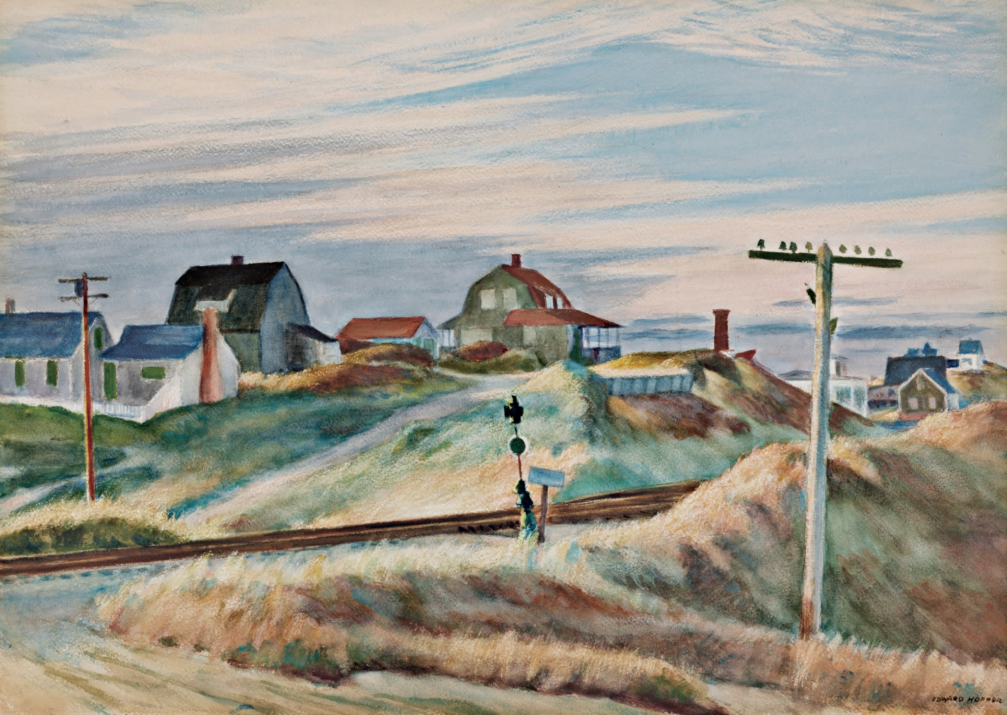 Cottages at North Truro , Edward Hopper, 1938