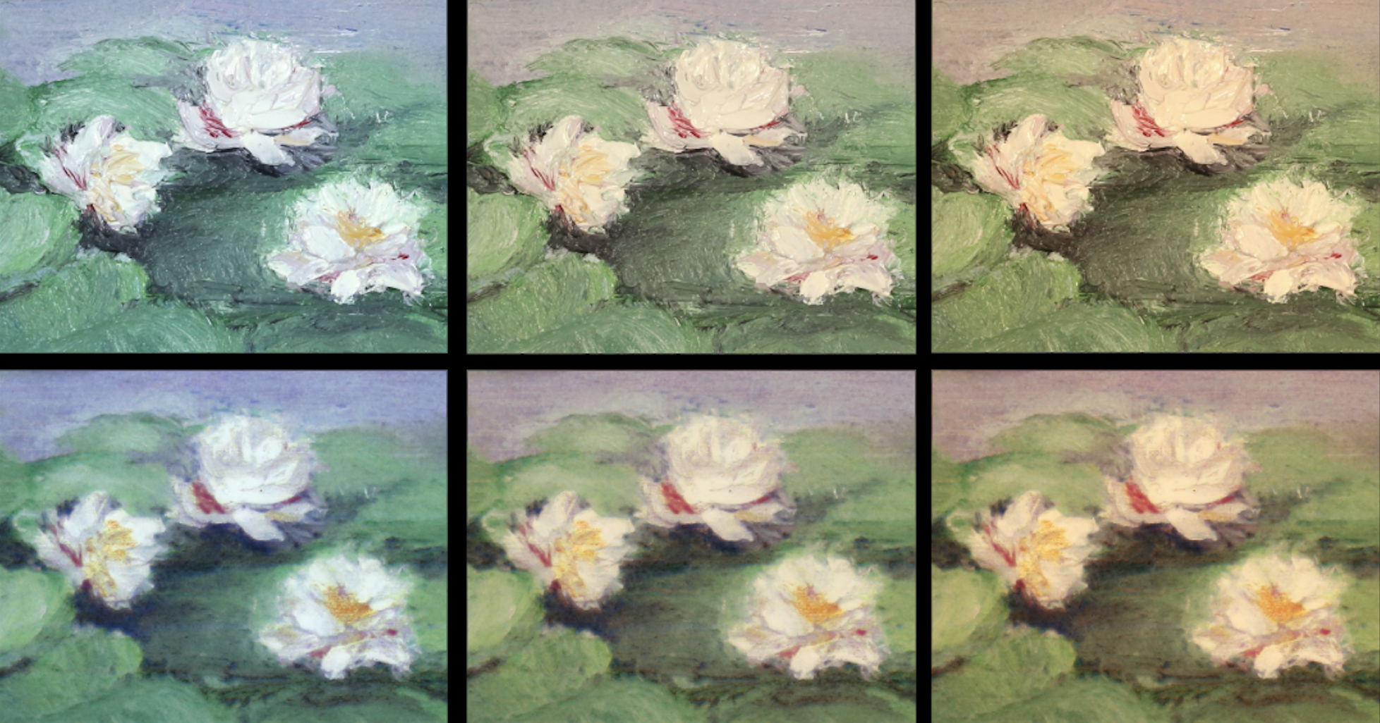 MIT-RePaint-Flowers-03 - RePaint can reproduce paintings regardless of different lighting conditions (credit MIT CSAIL).png