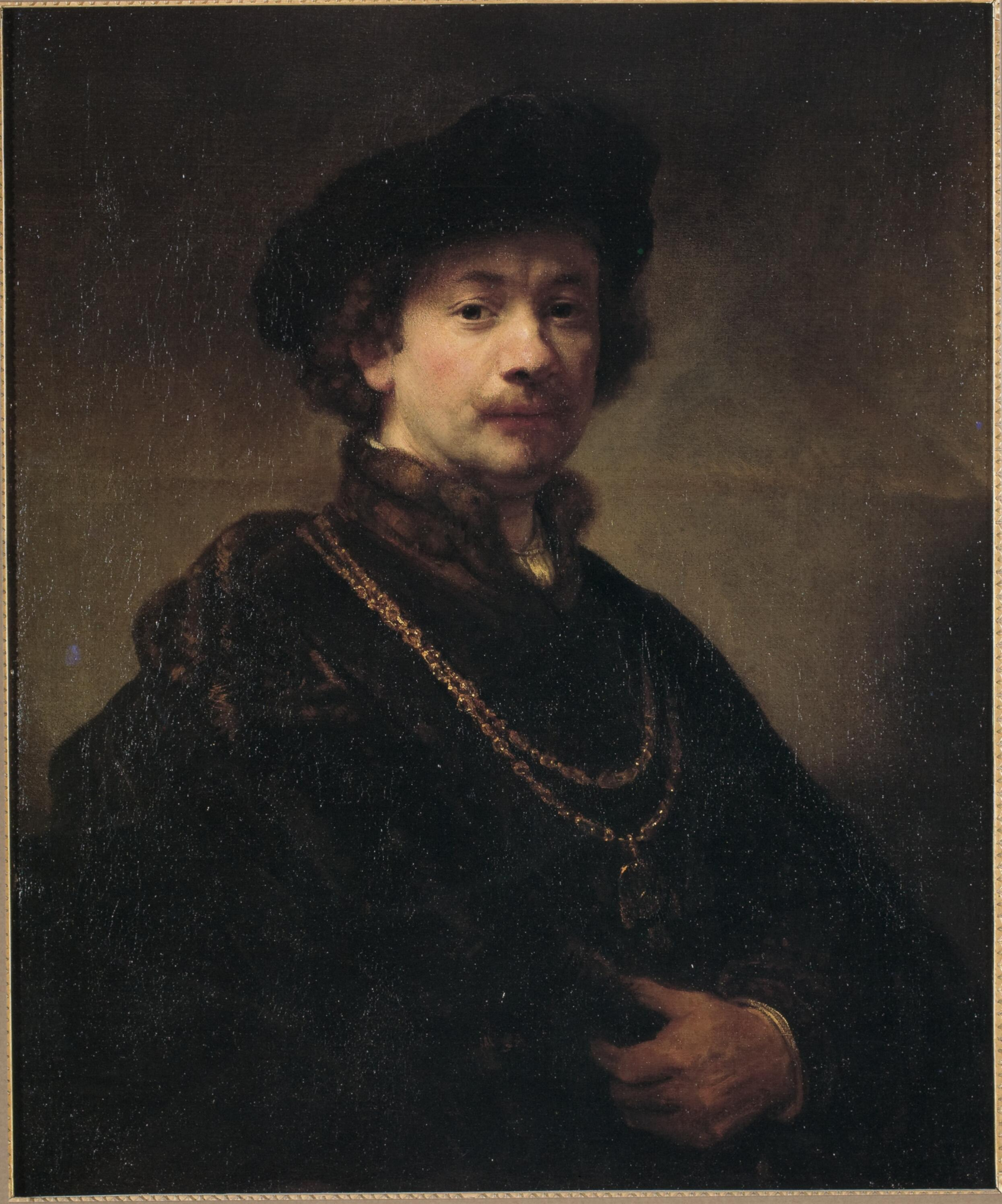Self-Portrait with Beret, Gold Chain, and Medal , Rembrandt, 1640