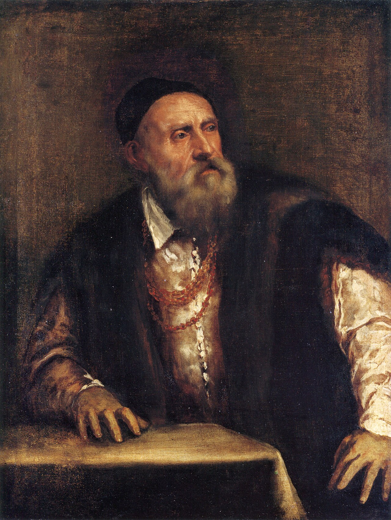 Self-Portrait , Titian, 1546 (wearing the golden chain that was given to him by the  Emperor Charles V  in 1533)