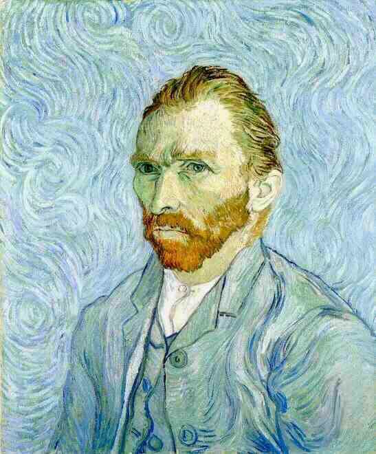 Self-Portrait , Vincent van Gogh, Saint-Rémy, 1889