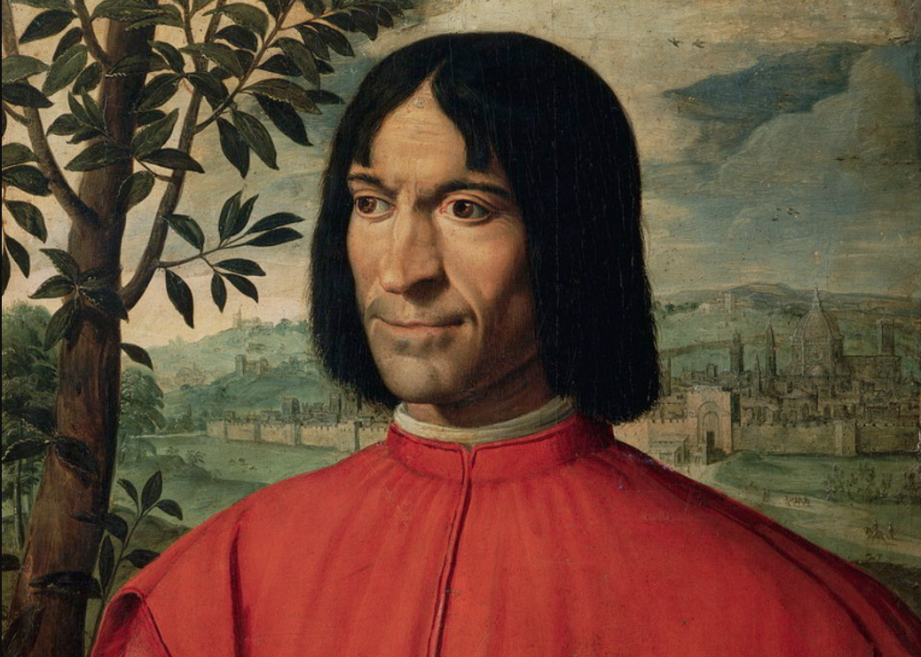 LUIGI FIAMMINGO  – Portrait of patron Lorenzo de' Medici, called The Magnificent, c. 1550