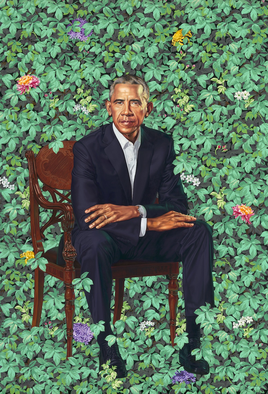 President Barack Obama , Kehinde Wiley, 2018