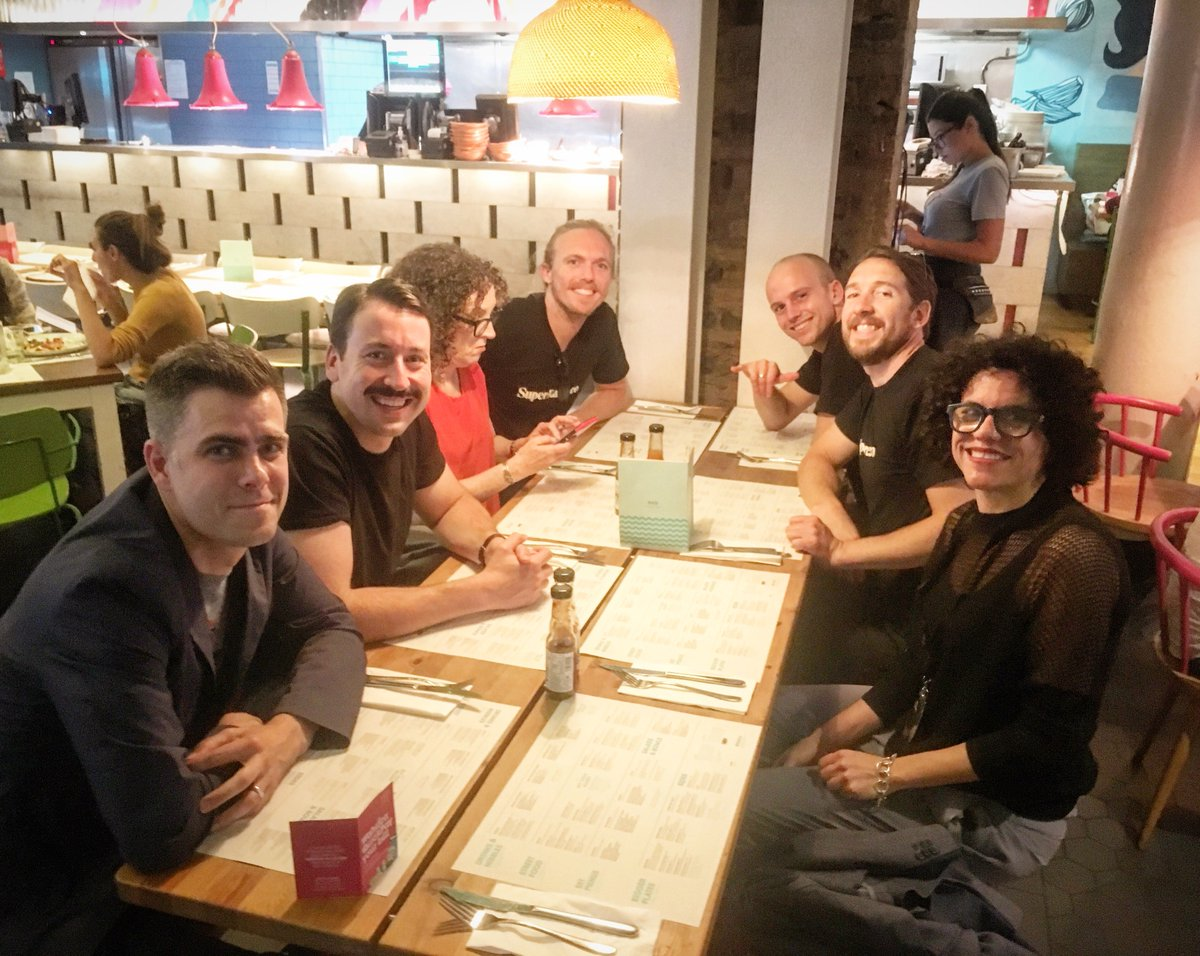 London Tacos, from left: Matt Hall (CryptoPunks), John Zettler (Rare Art Labs), Judy Mam (Dada.nyc), John Crain (SuperRare), Charlie Crain (SuperRare), Jon Perkins (SuperRare), Bea Ramos (Dada.nyc)