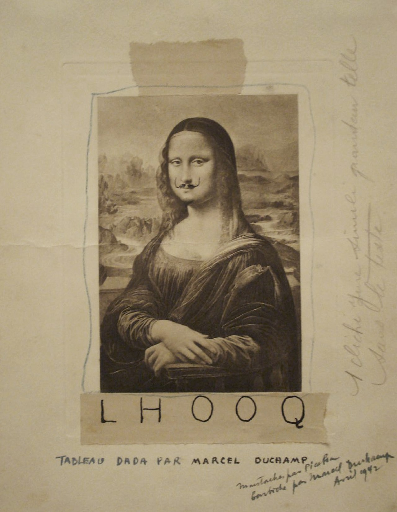 L.H.O.O.Q., Marcel Duchamp, 1919